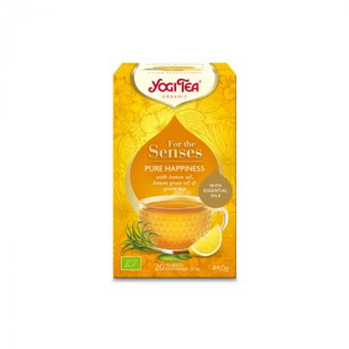 Ceai cu ulei esential, fericire pura, BIO 44g Yogi Tea [1]