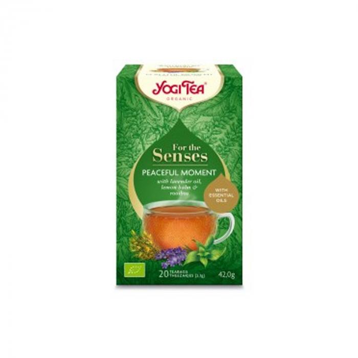 Ceai cu ulei esential, momente linistite, BIO 42g Yogi Tea [1]