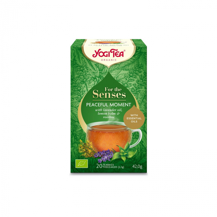 Ceai cu ulei esential, momente linistite, BIO 42g Yogi Tea [0]