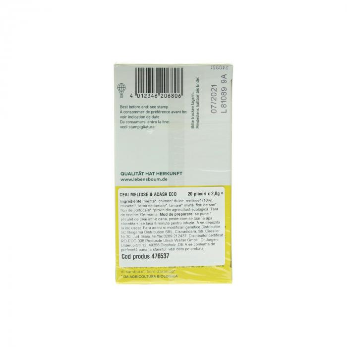 Ceai  Melisa & Acasa x20 plicuri Lebensbaum 40g [1]