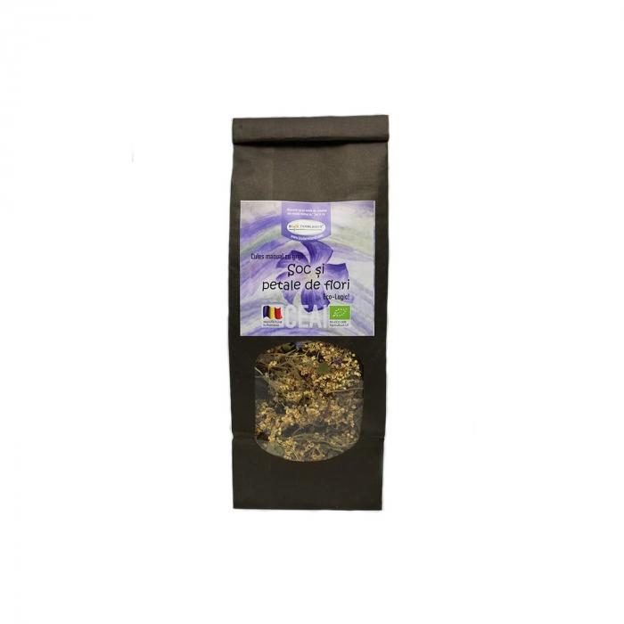 Ceai de Soc şi petale de flori  BIO, 40 g [0]