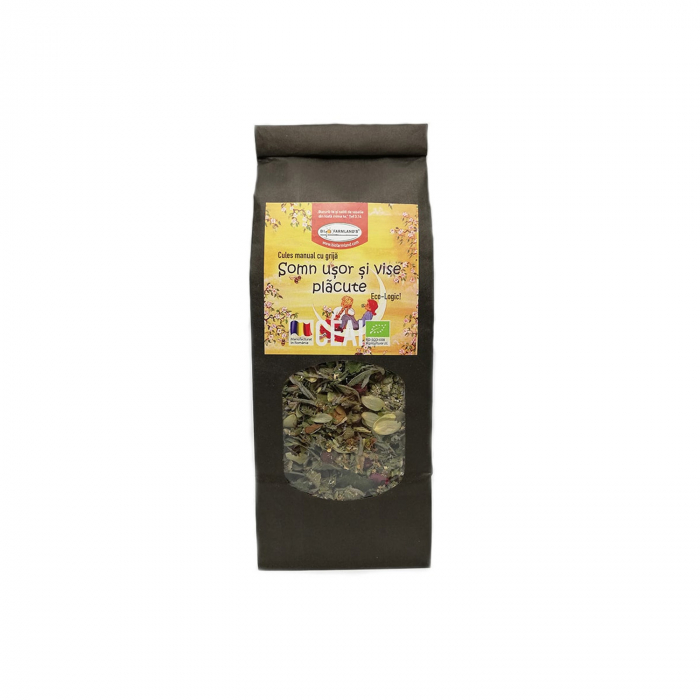 Somn ușor și vise plăcute -  Ceai din plante BIO cu efect relaxant, 50 g [0]