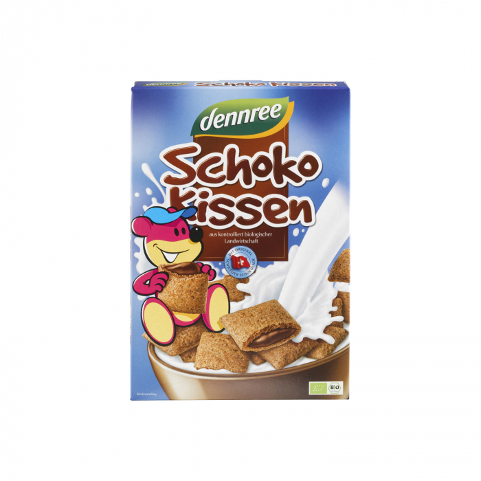 Cereale pernite BIO umplute cu ciocolata Dennree 375g [0]