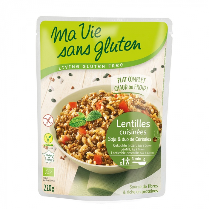Cereale si leguminoase - fara gluten gata preparat 220g [0]
