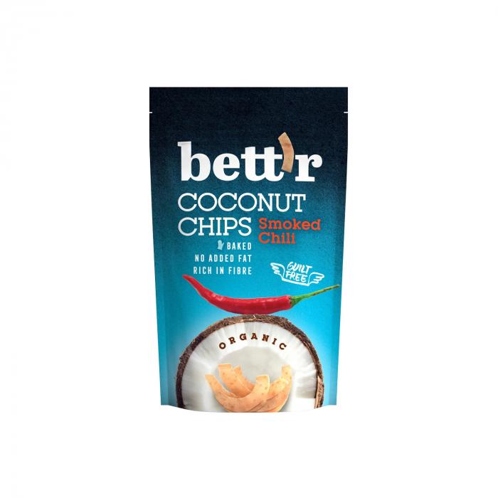 Chips de cocos cu chilli BIO FARA GLUTEN 70g [0]