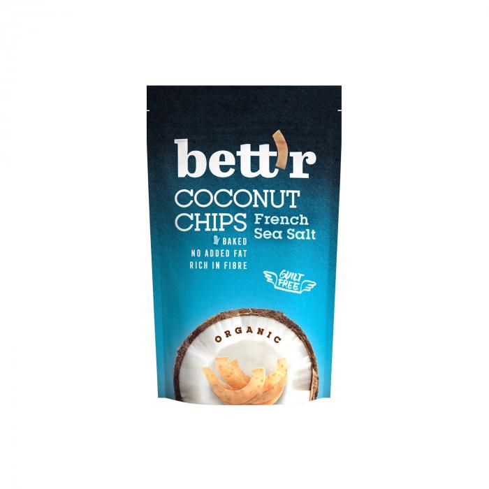 Chips de cocos cu sare de mare BIO FARA GLUTEN 70g [0]