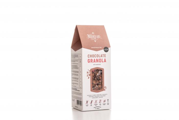 Chocolate Granola  cu fulgi de ovaz crocant si ciocolata, fara zahar adaugat si fara gluten 320g [2]