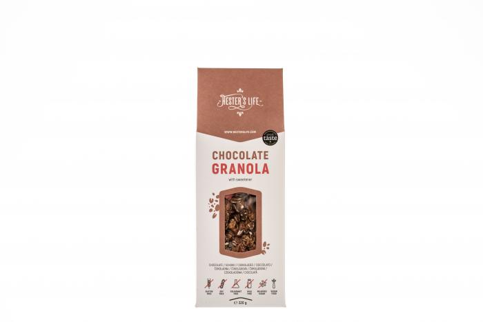 Chocolate Granola  cu fulgi de ovaz crocant si ciocolata, fara zahar adaugat si fara gluten 320g [3]