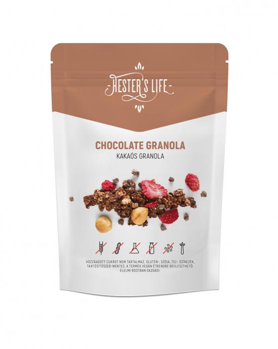 Chocolate Granola  cu fulgi de ovaz crocant si ciocolata, fara zahar adaugat si fara gluten 60g [0]