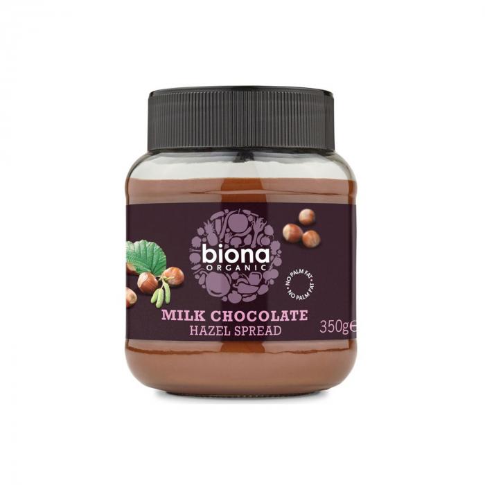 Crema de ciocolata cu lapte si alune de padure BIO 350g Biona [0]