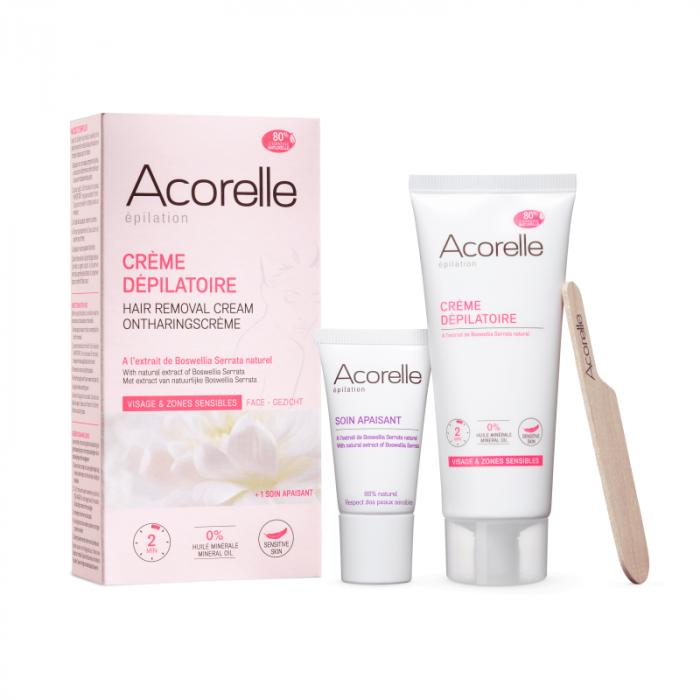 Crema depilatoare naturala pentru fata si zone sensibile 75ml [0]