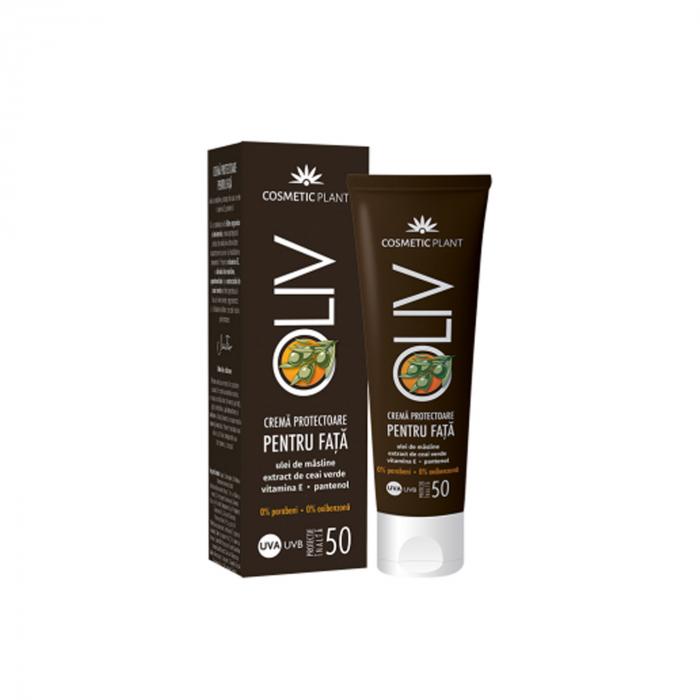 Crema protectoare fata oliv spf 50 cu ul.masline, ceai verde 50ml [0]