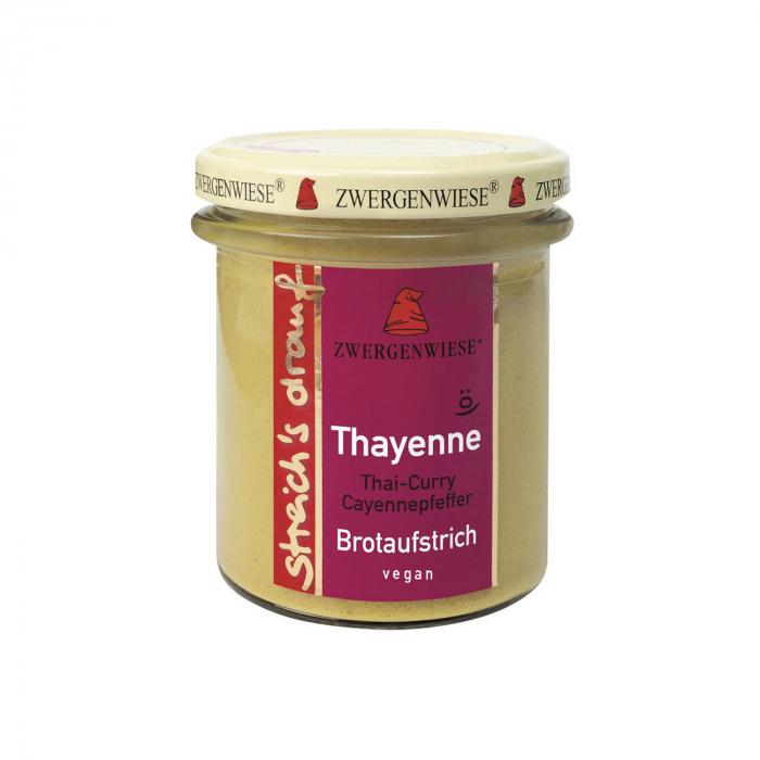 Crema tartinabila bio vegetala Thayenne cu Thai curry si piper de cayenne Zwergenwiese 160g [0]