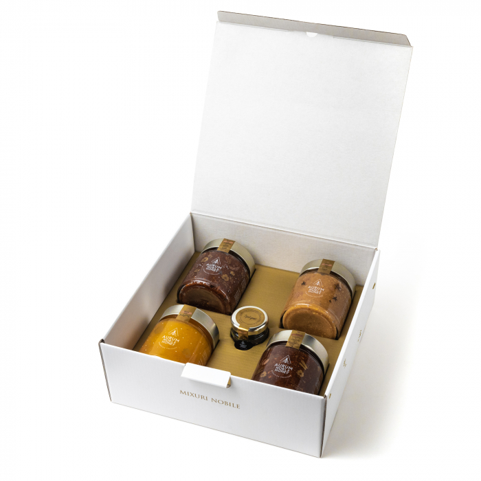 Pachet Love your honey Mix delicatese din miere 4+1 630g [0]