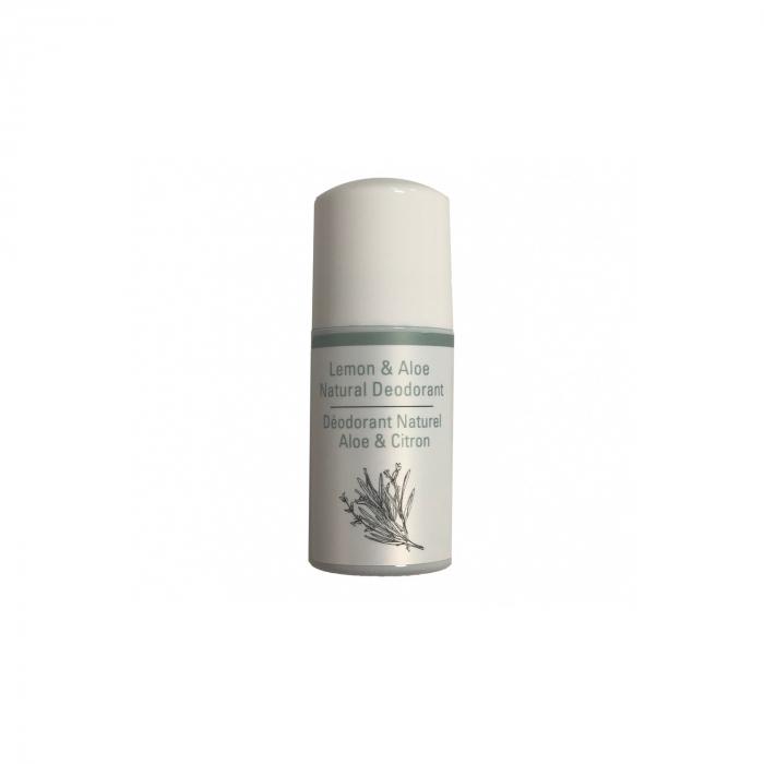 Deodorant roll on 100% natural Odylique, cu lamaie si aloe, 50 ml [0]