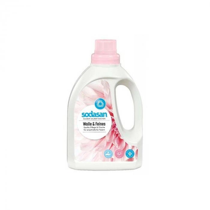 Detergent BIO lichid pentru rufe delicate, lana si matase 750 ml Sodasan [0]