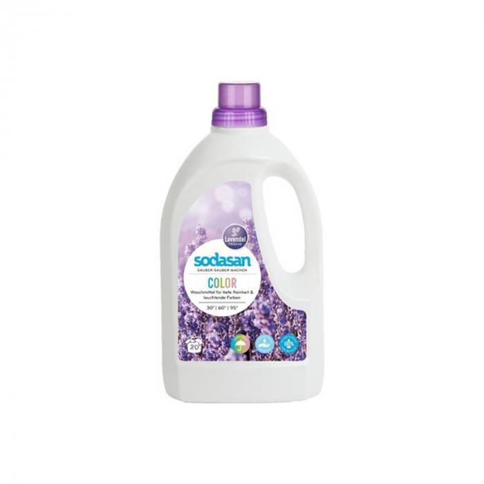 Detergent BIO lichid rufe albe si color lavanda 1,5l Sodasan [0]