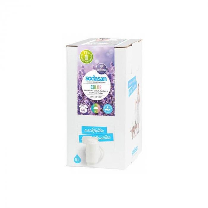 Detergent BIO lichid rufe albe si color lavanda 5l Sodasan [0]