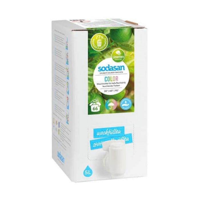 Detergent BIO lichid rufe albe si color lime 5l Sodasan [0]