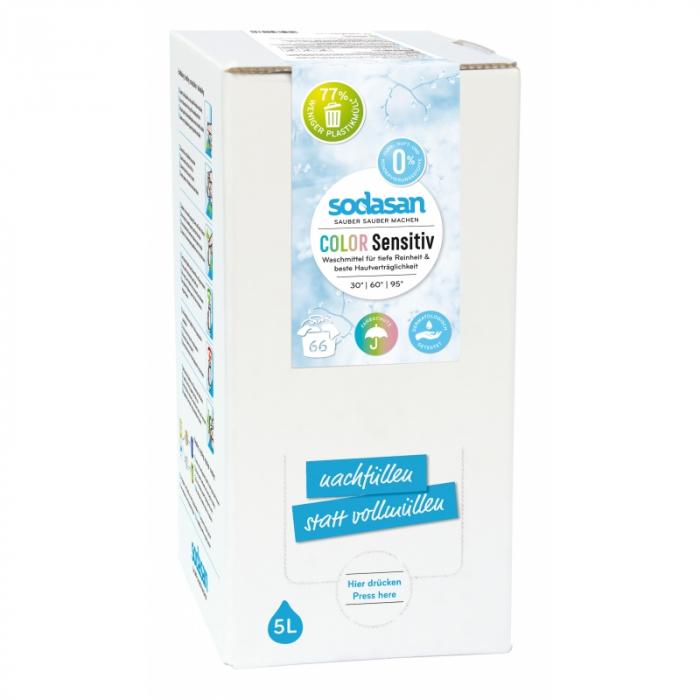 Detergent BIO lichid rufe albe si color sensitiv hipoalergen 5l Sodasan [0]