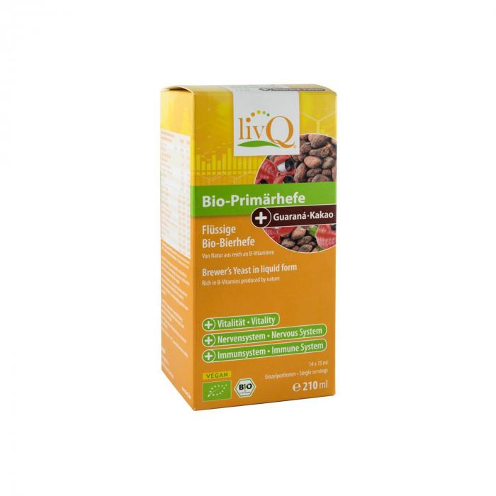 Drojdie primara BIO cu guarana si cacao, 210 ml livq [0]