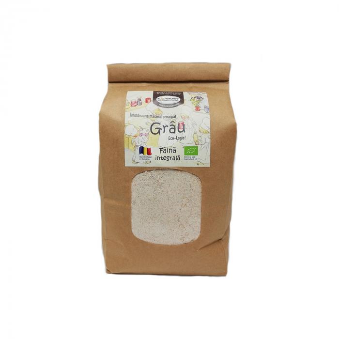 Făină integrală de grâu eco, 1 kg Biofarmland [0]