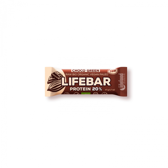 Lifebar baton cu proteine si ciocolata raw BIO 47g [0]