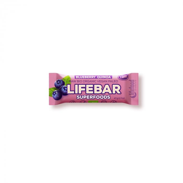 Lifebar plus baton cu afine si quinoa raw BIO 47g [0]