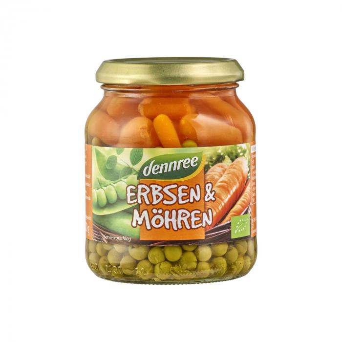 Mazare cu morcovi eco la borcan Dennree 350g [0]
