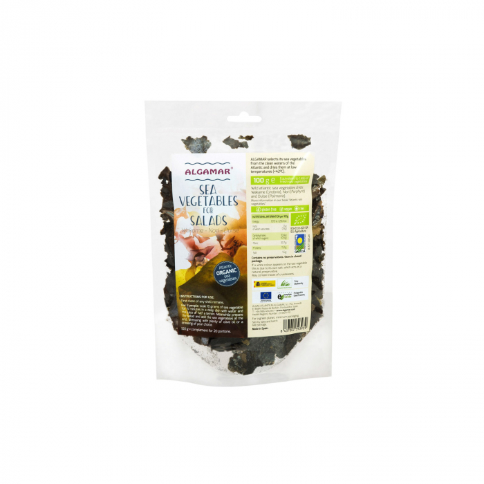Mix Alge Marine Pentru Salate (Nori, Dulse, Wakame) 100G [0]