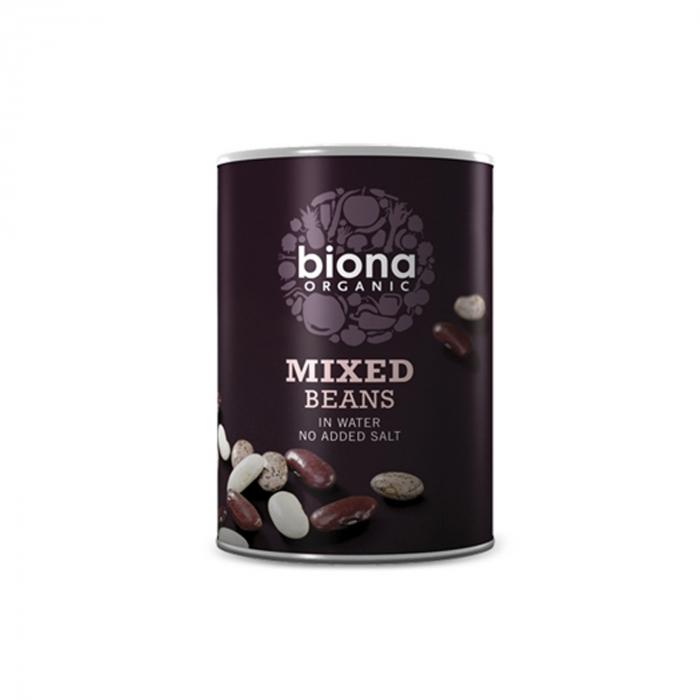 Mix din 3 tipuri de fasole boabe BIO 400g Biona [0]