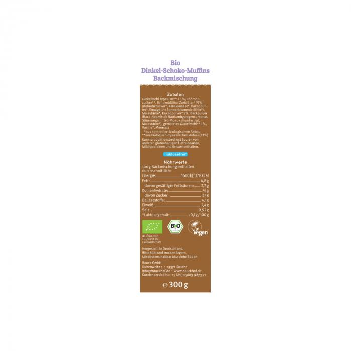 Mix din spelta pentru Muffins cu ciocolata Demeter 300g [1]