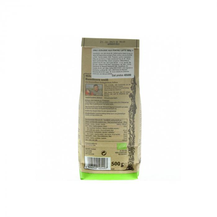 Orez BIO de lapte bob rotund alb Rapunzel 500g [1]
