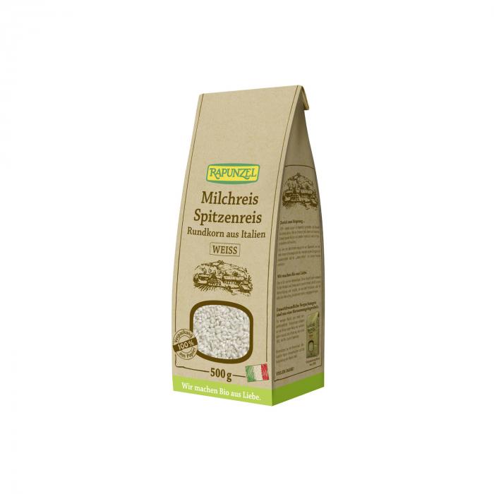 Orez BIO de lapte bob rotund alb Rapunzel 500g [0]