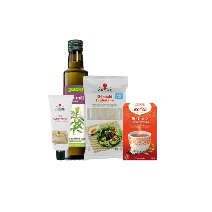 Pachet de alimente de post pentru cina cu tagliatelle shirataki si pasta curry [0]