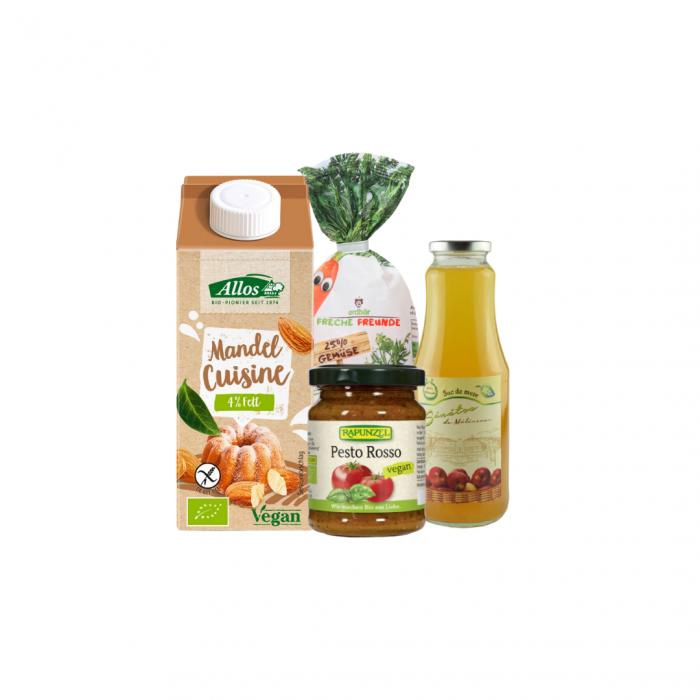 Pachet de alimente de post pentru pranz cu paste pentru copii si suc de mere [0]