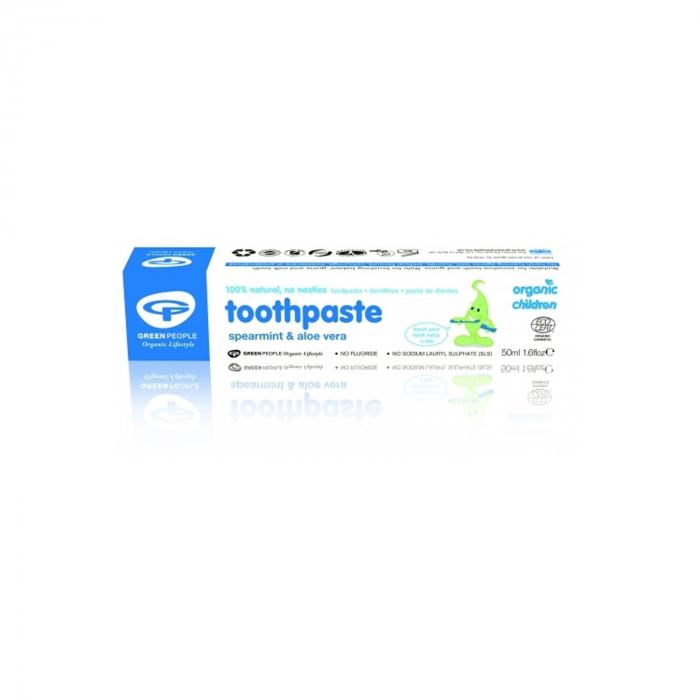 Pasta de dinti cu menta si aloe vera organica, pt. copii [0]