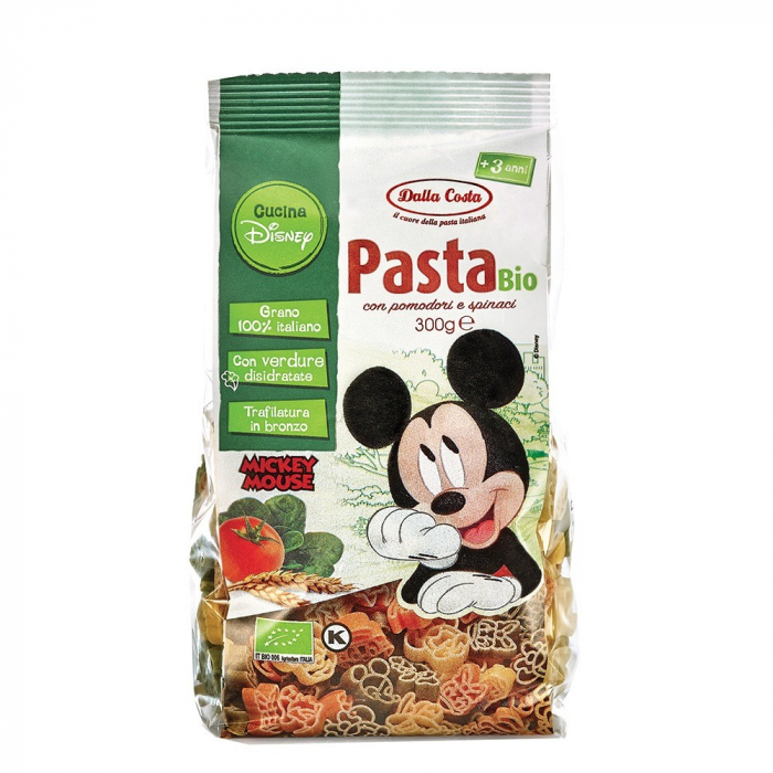 Paste bio Disney MICKEY MOUSE - cu rosii si spanac 300g [0]