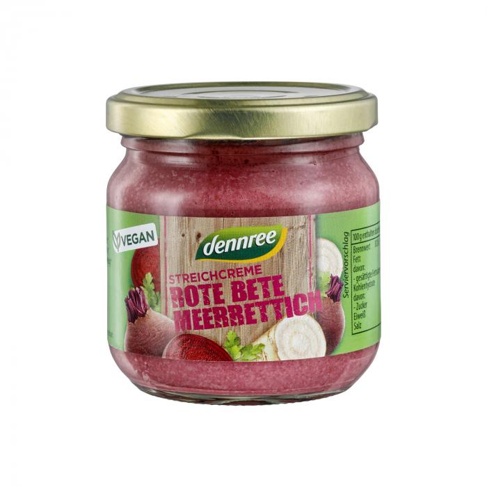 Pate bio vegetal cu sfecla rosie si hrean  Dennree 180g [0]