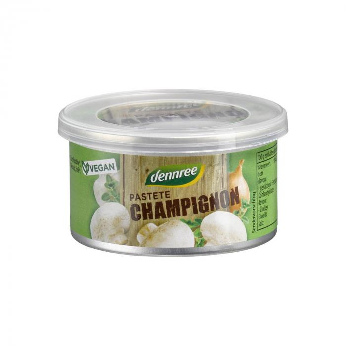 Pate cu ciuperci champignon BIO Dennree 125g [0]