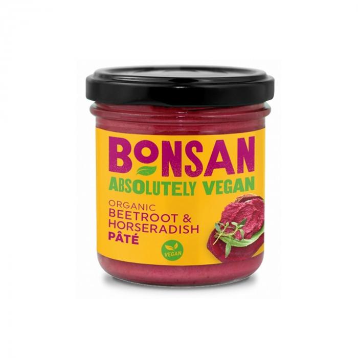 Pate vegetal cu sfecla rosie si hrean BIO 130g [0]