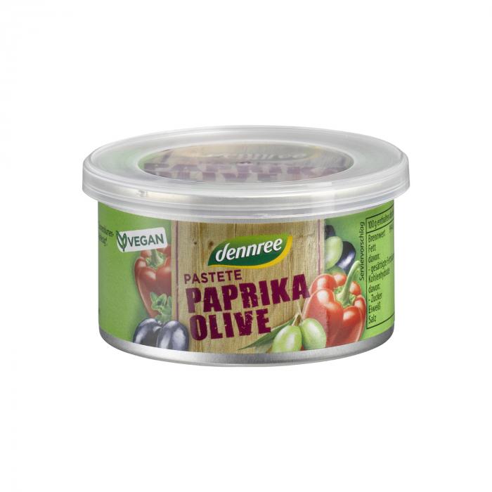 Pateu bio vegetal bio cu ardei si masline Dennree 125g [0]