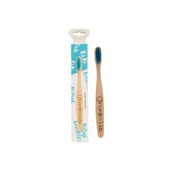 Periuta de dinti pentru copii din bambus +4 ani - albastru [0]