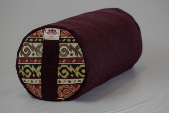 Perna meditatie India Bordo cu husa detasabila 50x20cm + Meditatie cadou [0]