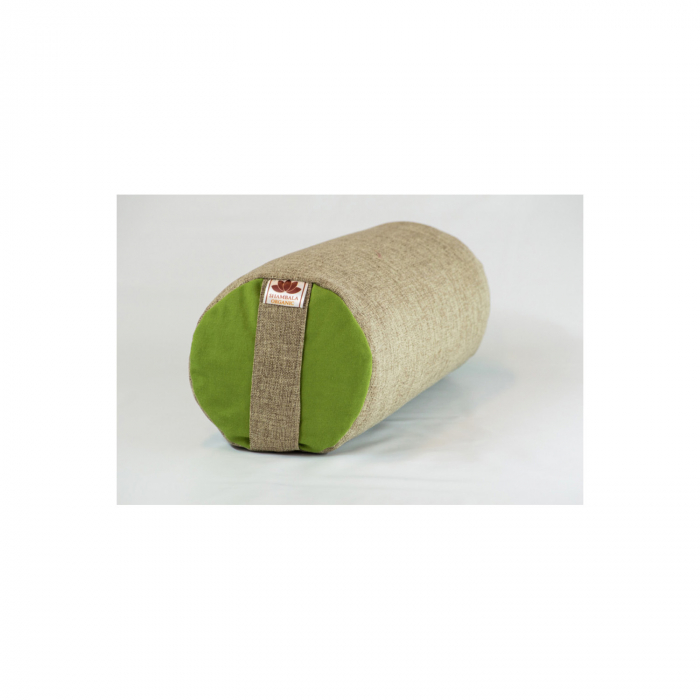 Perna meditatie Bolster Apple Crem cu husa detasabila 50x20cm + Meditatie cadou [0]