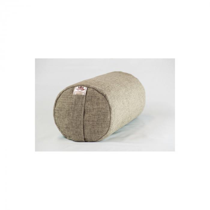 Perna meditatie Bolster Crem cu husa detasabila 50x20cm + Meditatie cadou [0]