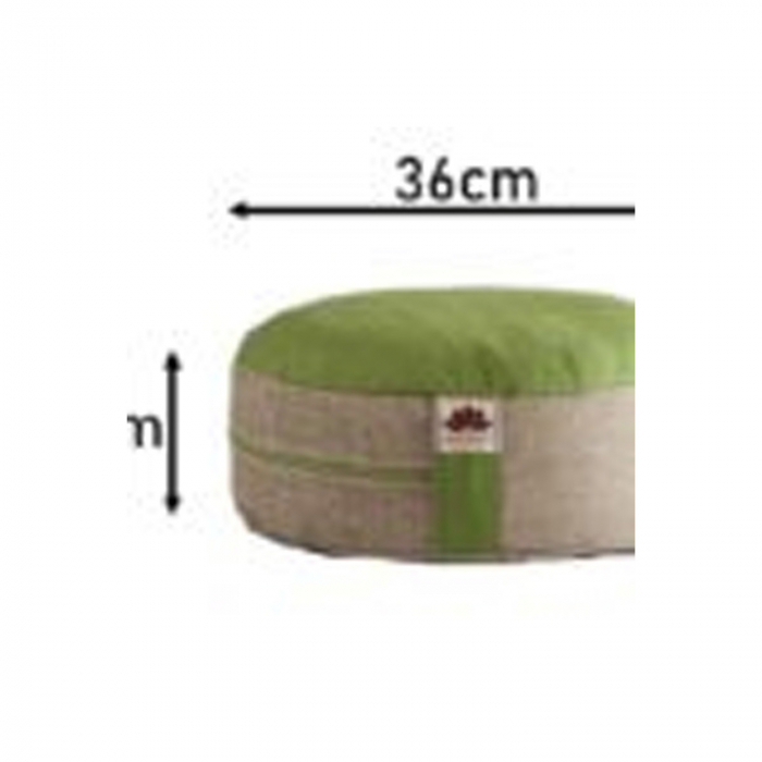 Perna meditatie rotunda Apple Crem cu husa detasabila 36x14cm + Meditatie cadou [3]