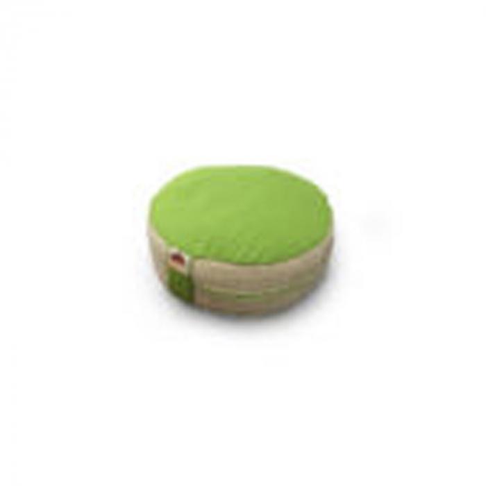 Perna meditatie rotunda Apple Crem cu husa detasabila 36x14cm + Meditatie cadou [2]