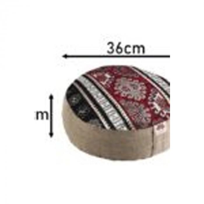Perna meditatie rotunda Tibet Crem cu husa detasabila 36x14cm + Meditatie cadou [1]