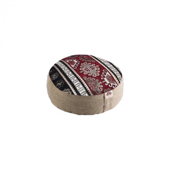 Perna meditatie rotunda Tibet Crem cu husa detasabila 36x14cm + Meditatie cadou [0]